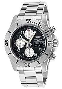 Men's SuperOcean Steelfish Automatic Chrono Stainless Steel Black Dial
