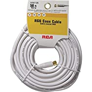 Audiovox Accessories VHW112RV Coaxial Cable-50' WHT COAX CABLE