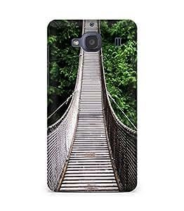Amez designer printed 3d premium high quality back case cover for Xiaomi Redmi 2S (Nature Long Suspension Bridge Over Forest)