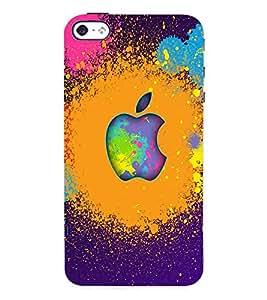 Fuson 3D Printed Multicolour Apple Designer Back Case Cover for Apple iPhone 4 - D1089