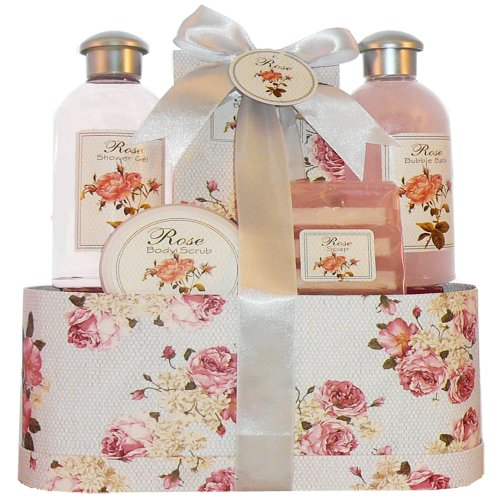 Timeless Romance Rose Bath and Body Gift Set Spa Gift Basket