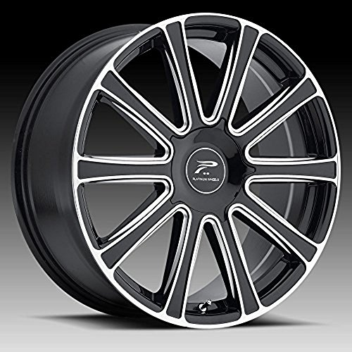 Platinum Divine 20 Black Wheel / Rim 5x4.5 & 5x120 with a 42mm Offset and a 74.1 Hub Bore. Partnumber 410-2807BM+42 (Rims For 05 Mustang compare prices)