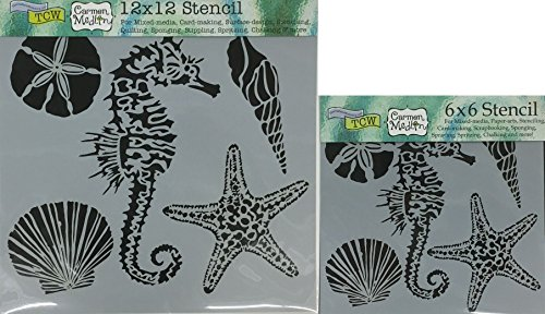 The Crafter's Workshop Set of 2 Stencils - Sea Creatures 12