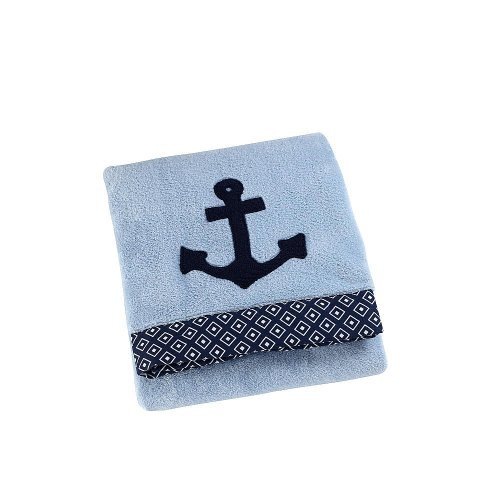 Sadie & Scout Anchor Applique Blanket - Blue