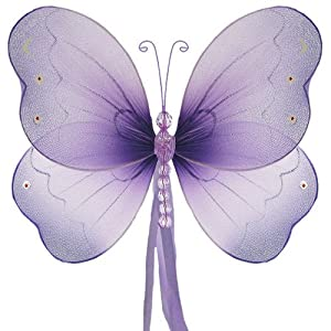 wedding reception decoration ideas, hanging nylon butterfly