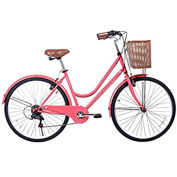 Gama Bikes Women's City Basic Step-Thru 6 Speed Shimano Hybrid Urban Cruiser Commuter Road Bicycle, 26-inch wheels