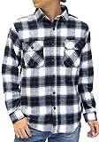 (ルーシャット) ROUSHATTE シャツ メンズ 長袖 チェックシャツ 16color M チェック1