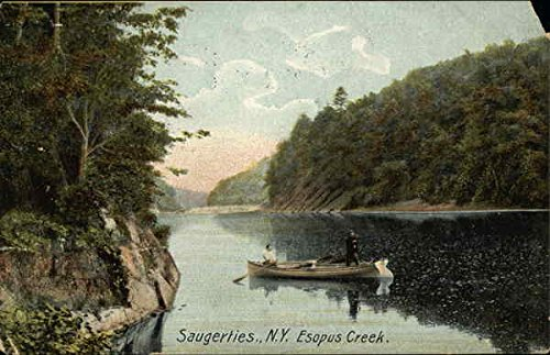 Fishermen on Esopus Creek Saugerties, New York, 1909