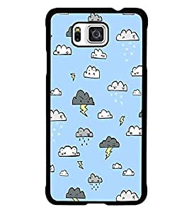PrintDhaba Cloud Pattern D-1442 Back Case Cover for SAMSUNG GALAXY ALPHA (Multi-Coloured)