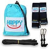 Happy Times Camping Parachute Hammocks & Suspension Tree Straps Bundles- Great Gift Idea - Portable, Travel, Nylon, Lightweight, Indoor, Outdoor