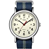 Timex Unisex T2N654 Weekender Watch with Blue and Gray Nylon Strap
