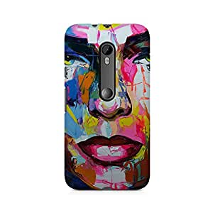 Mobicture Skull Abstract Premium Printed Case For Moto G3