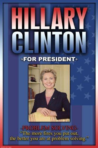 キャンバス上の社長12x18クレーについてはヒラリー・クリントン