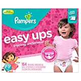 Pampers Girls Easy Ups Training Underwear, 2T-3T (Size 4), 164 Count - Packaging May Vary
