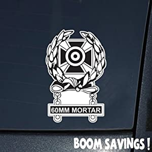 "US Army Badge Marksman Badge Expert w 81mm Mortar Qualification Bar 6"" Decal Sticker"