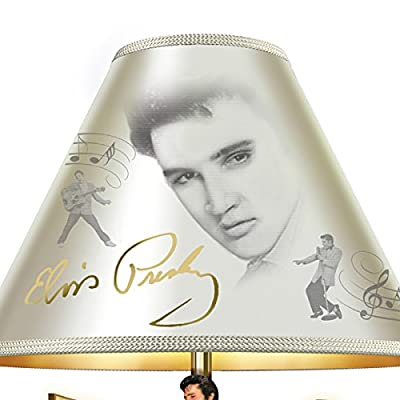 Elvis Presley Golden Legend Tabletop Lamp with Gold Record Stage Base Lights Up by The Bradford Exchange