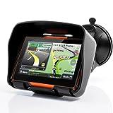 "All Terrain 4.3 Inch IPX7 Waterproof Motorcycle GPS Navigator System ""Rage"" with 4GB Internal Memory, Bluetooth GPS430M"