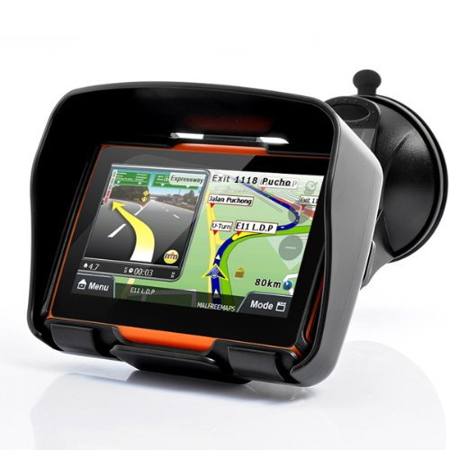 All Terrain 4.3 Inch IPX7 Waterproof Motorcycle GPS Navigator System