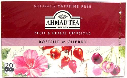 Ahmad Tea London Rosehip & Cherry (Naturally Caffeine Free) - 20 Tea Bags