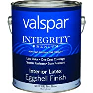 Valspar 004.6012181.007 Integrity Eggshell Latex Interior Wall Paint And Primer In One Paint