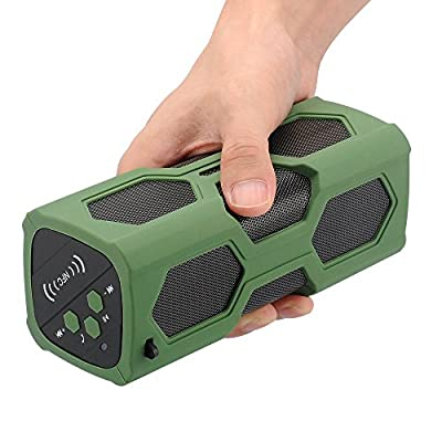 Waterproof Sport Speaker, Portable Wireless Bluetooth Speaker Bass Subwoofer Sound Speaker Bluetooth Speakers 4.0 with NFC Built-in Microphone 3600mah Rechargeable Battery 12 Playing Hours