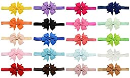 Toptim Baby Girl\'s Headbands and Hair Bows for Photographic Accessories (20 Pieces)