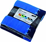 Supersoft Urban Style Fleece Blanket Throw - 150 x 200cm - 5 Great Colours (Blue)