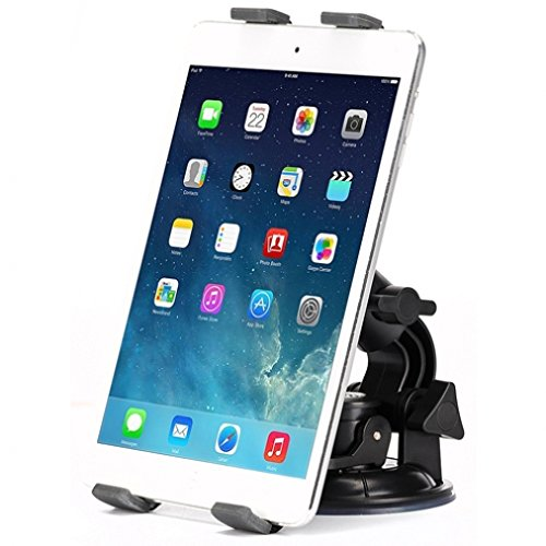 Heavy Duty Car Mount Dash Windshield Tablet Holder Stand for Microsoft Surface, Pro 2 3 4 - Verizon Ellipsis 7, 8 - LG G Pad 7.0, 8.0, 8.3, 10.1, G Pad F, PadX - Sony Xperia Z4 Z3 Z2 Tablet