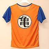 ドラゴンボール 孫悟空風衣装 三点セット (上着、ズボン、ベルト) キッズコスチューム 男の子 Lサイズ 120cm-130cm