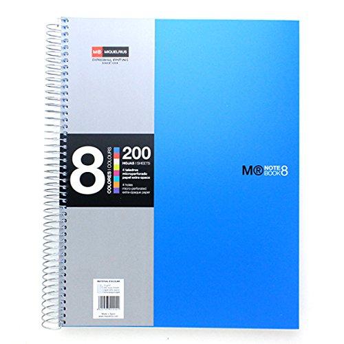basicos-mr-42004-cuaderno-8-colores-a4-200-hojas-cuadricula-polipropileno-color-azul