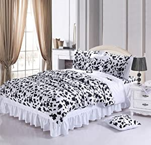 Amazon.com - DIAIDI Home Textile, Black And White Bedding Set, Cow ...