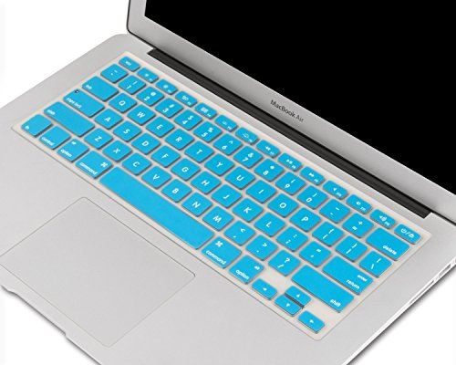"Heartly Premium Soft Silicone Keyboard Skin Crystal Guard Protector Cover For MacBook 13"" / 13.3"" / 15"" / 17"" inch Light Blue"