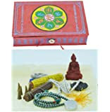 Tibetan Mantra Traveling Altar Set Incense Box Set