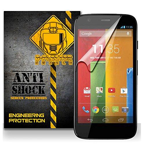D-Flectorshield Motorola Moto G Anti-Shock/Military Grade/ Tpu /Premium Screen Protector / Self Healing / Oleophobic Material / Ez Install / Ultra High Definition / Scratch Proof / Bubble Free Install / Precise Laser Cuts