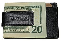 Money Clip Wallet Slim RFID/NFC Blocking Leather Front Pocket Wallet for Men (black)