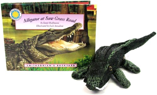 Alligator at Saw Grass Road (Smithsonian's Backyard Book & Toy Set) (Mini book with stuffed toy animal) (Micro Hardcover Book, 6 Toy)