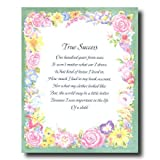 Motivational Poem True Success Home Decor Wall Picture 16x20 Art Print