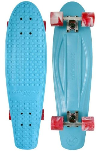 "Kryptonics Torpedo 71,12 cm (28"") Skateboard Cruiser, in polipropilene, colore: verde acqua"
