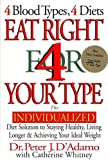 Eat Right 4 Your Type: The Individualized Diet Solution to Staying Healthy, Living Longer & Achieving Your Ideal Weight (039914255X) by Peter J. D'Adamo