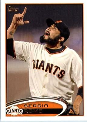 2012 Topps Baseball Card #379 Sergio Romo - San Francisco Giants - MLB Trading Card