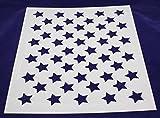 """50 Star Field Stencil 14 Mil -17.5""""W X 14""""H - Painting /Crafts/ Templates"""
