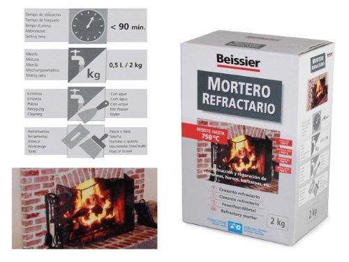 Beissier mortero refractario en polvo 768 2 kg amazon - Mortero autonivelante precio ...
