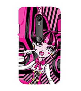 EPICCASE pinky girl Mobile Back Case Cover For Moto G Turbo (Designer Case)