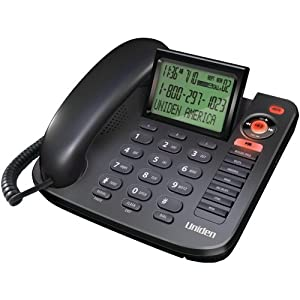 1380BK DESKTOP CALLER ID CORDED PHONE (WITH ANSWERING SYSTEM)