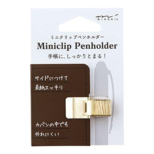 ミドリ ミニクリップペンホルダー ゴールド 82219006