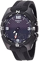 Tissot T-Touch Expert Solar Black Dial Rubber Men's Watch T0914204705701