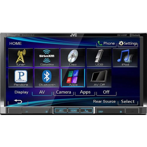 Jvc Double Din In-Dash 7 Inch Lcd Touchscreen Bluetooth Am/Fm/Cd/Mp3/Dvd/Usb Car Stereo Reciever, Free Bonus Jvc Remote Included