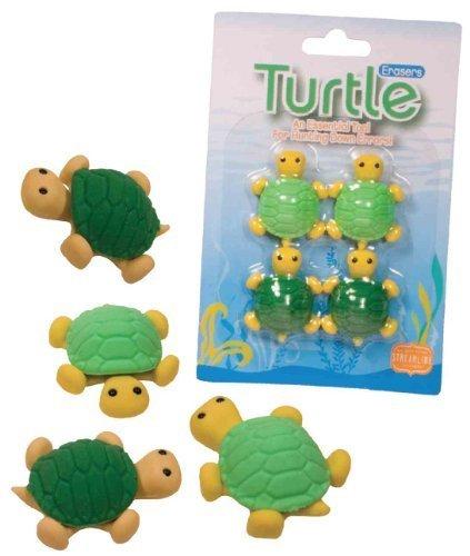 Eraser Set Of 4 Turtles