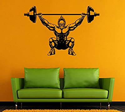 Bodybuilding Wall Vinyl Decal Bodybuilder Wall Vinyl Sticker GYM Decals Wall Vinyl Decor /3qpt/