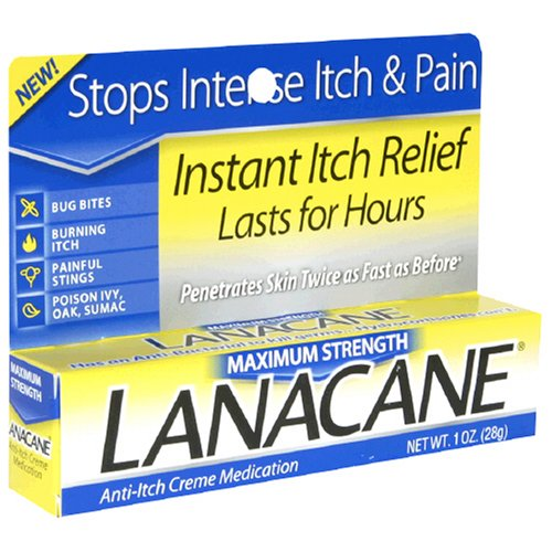 Lanacane Maximum Strength Anti-Itch Medication Cream - 1Oz